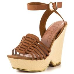 Modern Rush Women's Wedge Shoes Ibiza in Tan Size 8 US