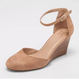 A New Day Women's Wendi Closed Toe Wedge Pumps With Ankle St