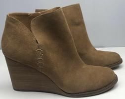 Lucky Brand Women's Yimme Wedge Heel Boot Ankle Color: Sesam