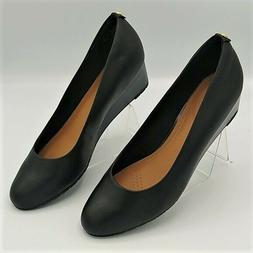 Clarks Women Shoes Artian Black Wedge Pumps Sz 9.5 NWOT
