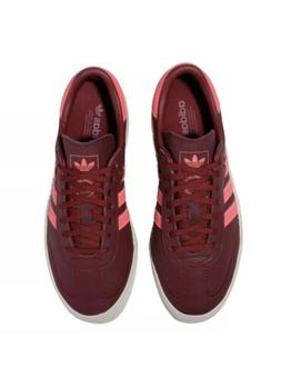 WOMENS ADIDAS SAMBAROSE BURGUNDY RED WEDGE RETRO CASUAL ATHL