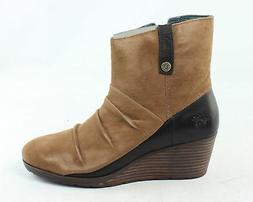 The North Face Womens Bridgeton Wedge Zip Brown Ankle Boots