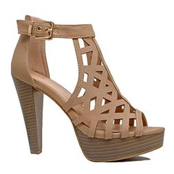 womens cutout gladiator ankle strap platform fashion
