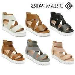 DREAM PAIRS Women's Platform Wedge Sandals Open Toe Ankle St
