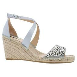 womens embellished ankle strap wedge sandals shoes