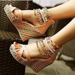 Womens Fashion Sandals Wedge Heels Sandal Platform Open Toe