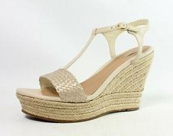 UGG Womens Fitchie Soft Gold Espadrilles Size 12