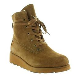 Bearpaw Womens Krista Suede Wedge Water Resistant Ankle Boot