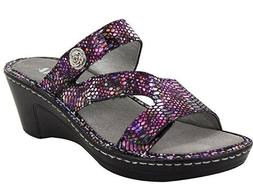 Alegria Womens LOTI Leather Wedge Sandals FUNTASTIC Size 8 -