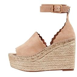 womens peep toe platform wedge sandals espadrille
