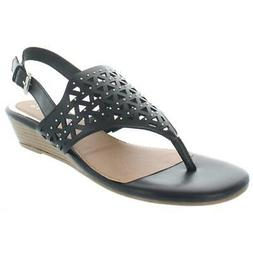 Rampage Womens Sachin Studded Cut-Out Sandals Wedges Shoes B