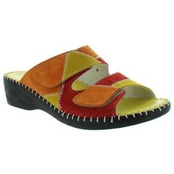 David Tate Womens Tosca Multi Colorblock Wedges Shoes 8 Medi