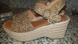 WOMENS UNIVERSAL THREADS LEOPARD BROWN MORGAN ESPADRILLE WED