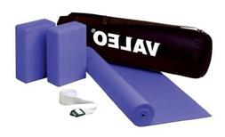 Valeo Yoga Kit, Includes 24-inch by 68-inch Sticky Mat, 72-i