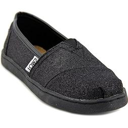 Toms - Youth Slip-On Shoes In Black Glimmer, Size: 5 M US Bi